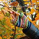"""Комплекты аксессуаров ручной работы. комплект аксессуаров """"Яркий"""". Светка (Taraskina). Интернет-магазин Ярмарка Мастеров. Митенки вязаные"""