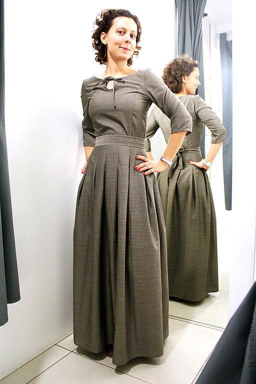 """Платья ручной работы. Ярмарка Мастеров - ручная работа. Купить Шерстяное платье в пол с рукавом """"СКАРЛЕТТ""""(копия). Handmade. Платье из шерсти"""