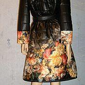 Одежда ручной работы. Ярмарка Мастеров - ручная работа Пальто стеганое (миди). Handmade.