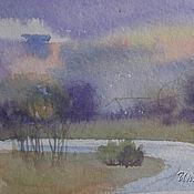 Картины и панно ручной работы. Ярмарка Мастеров - ручная работа Фиолетовый этюд. Handmade.