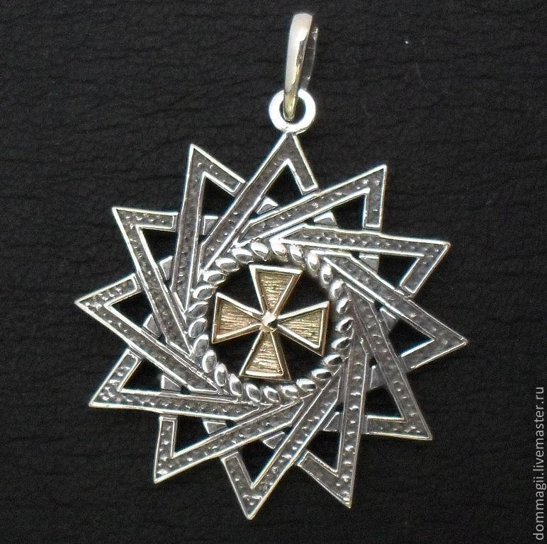 Ertsgamma star with gold, Amulet, Moscow,  Фото №1