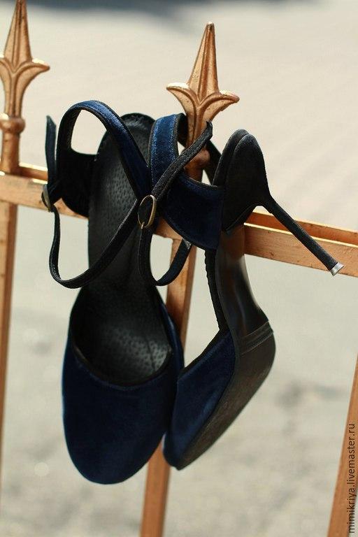 Обувь ручной работы. Ярмарка Мастеров - ручная работа. Купить Туфли PAVANE (JVV ClothingBrand). Handmade. Тёмно-синий