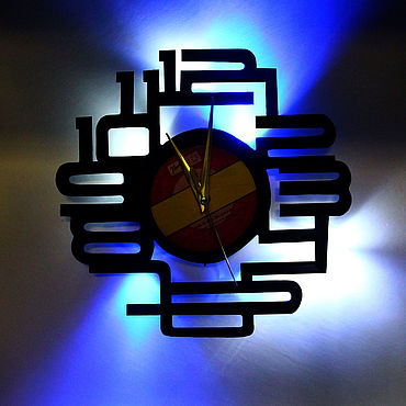 For home and interior handmade. Livemaster - original item Wall clock with led backlit plate Numbers. Handmade.