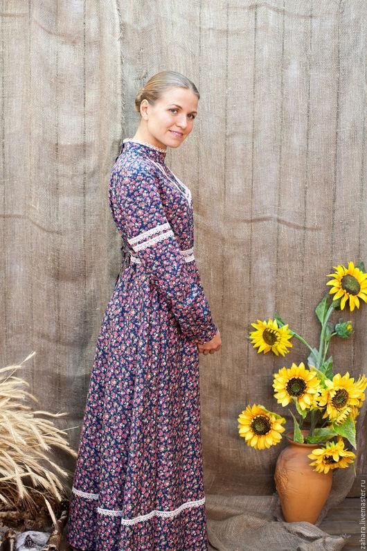 Платья ручной работы. Ярмарка Мастеров - ручная работа. Купить Платье Серафима. Handmade. Комбинированный, женственность, славянский стиль