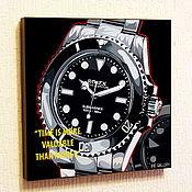 Картины и панно handmade. Livemaster - original item Picture Poster Rolex Watch in Pop Art Style. Handmade.