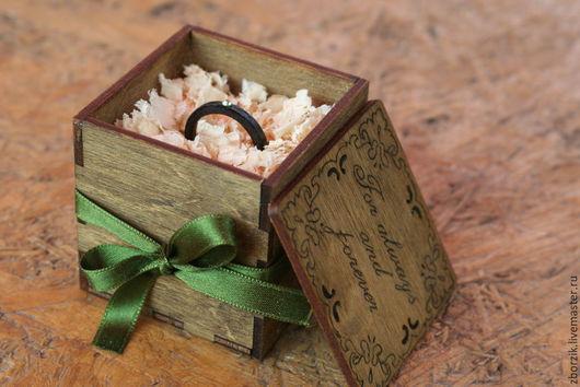 Кольца ручной работы. Ярмарка Мастеров - ручная работа. Купить Черное с зеленым камнем. Handmade. Подарок девушке, обрачальные кольца