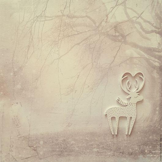 Новый год 2017 ручной работы. Ярмарка Мастеров - ручная работа. Купить Влюбленный олень интерьерная подвеска. Handmade. Белый