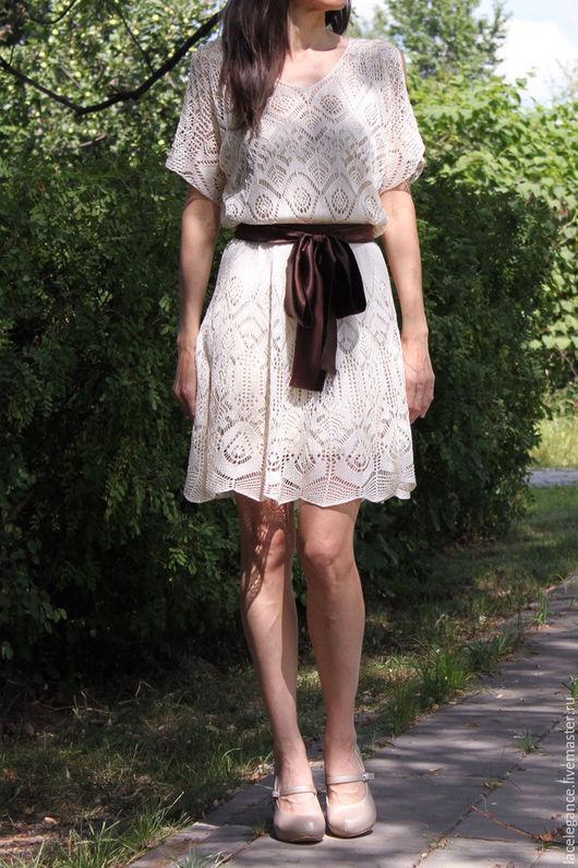 Вязание ручной работы. Ярмарка Мастеров - ручная работа. Купить White Karin инструкция (мастер-класс по вязанию). Handmade. платье