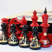 Сувениры и подарки ручной работы. Ярмарка Мастеров - ручная работа шахматы авторские Красное и чёрное. Handmade.