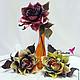 """Цветы ручной работы. Цветы из шелка. Интерьерные розы из шелкового бархата - """"Autumn"""". Лилия Марченко - салон Flowear. Ярмарка Мастеров."""