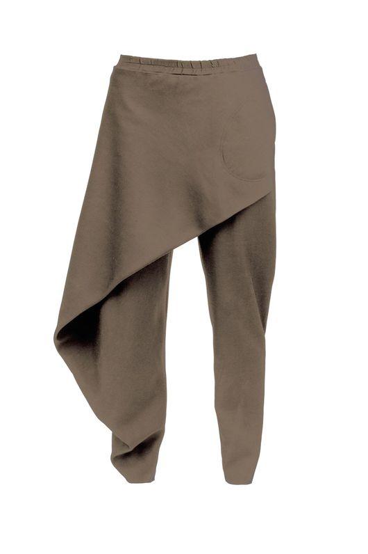 Брюки, шорты ручной работы. Ярмарка Мастеров - ручная работа. Купить Асимметричные брюки из вискозы. Handmade. Дизайнерские брюки
