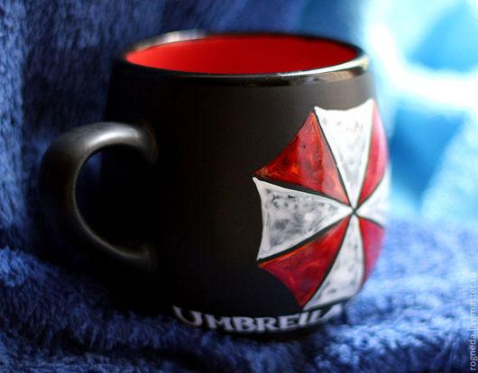 """Кружки и чашки ручной работы. Ярмарка Мастеров - ручная работа. Купить Чашка """"Umbrella Corporation"""" (Resident Evil / Обитель Зла) (0103). Handmade."""