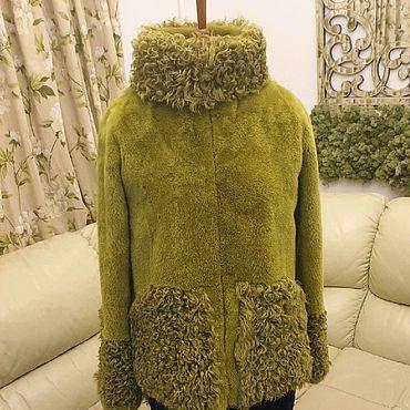Одежда ручной работы. Ярмарка Мастеров - ручная работа Шуба куртка с мехом норки и калгана. Handmade.