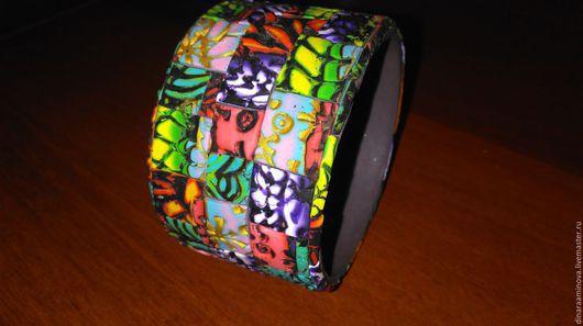 Браслеты ручной работы. Ярмарка Мастеров - ручная работа. Купить Мозаичный браслет. Handmade. Браслет ручной работы, полимерная глина