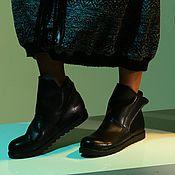 Ankle boot handmade. Livemaster - original item Winter black boots 8z-46 (СБ). Handmade.