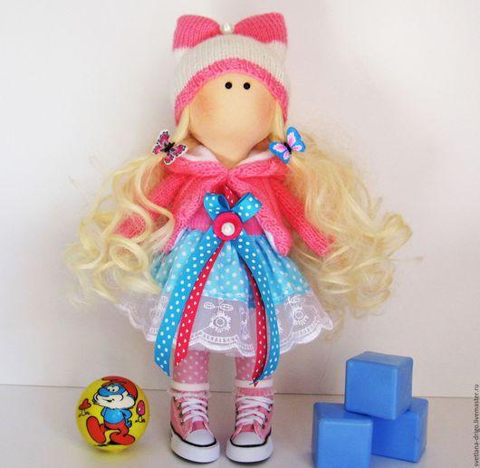 Коллекционные куклы ручной работы. Ярмарка Мастеров - ручная работа. Купить Куколка Весна. Handmade. Розовый, подарок на любой случай