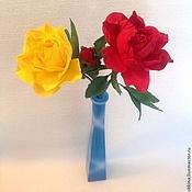 Цветы и флористика ручной работы. Ярмарка Мастеров - ручная работа Цветы из фоамирана (розы, пион, гвоздики). Handmade.