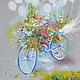 Картины цветов ручной работы. Be Happy. Логинова Аннет. Интернет-магазин Ярмарка Мастеров. Серый, картина с цветами