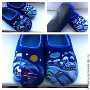 """Обувь ручной работы. Ярмарка Мастеров - ручная работа Тапочки """"Зимний пейзаж"""". Handmade."""