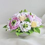 Цветы и флористика ручной работы. Ярмарка Мастеров - ручная работа Букеты. Handmade.