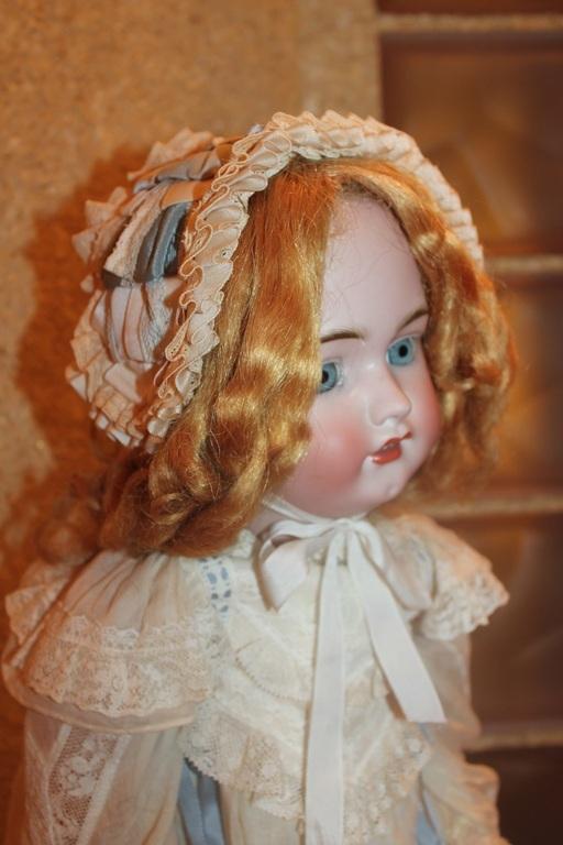 Винтажные куклы и игрушки. Ярмарка Мастеров - ручная работа. Купить АНТИКВАРНАЯ КУКЛА ОТ SIMON&HALBIG. Handmade. Бежевый, антикварные кружева