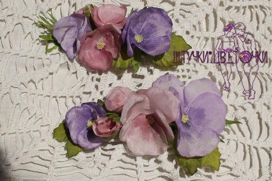 Работа - для примера, сделаю ЛЮБЫЕ цветы по фото и фантазии. Свадьба Выпускной Украшение для девочки Аксессуары для волос Венок на голову Розовый Сиреневый