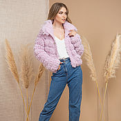 Одежда handmade. Livemaster - original item Pink Short Cardigan. Handmade.