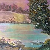 Картины ручной работы. Ярмарка Мастеров - ручная работа Картина   Закат на реке. Handmade.