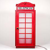 Светильник Лондонская Телефонная Будка Сатин