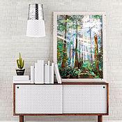 Картины и панно handmade. Livemaster - original item Emerald forest, the forest picture on canvas. Handmade.