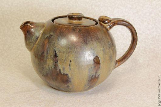 Чайники, кофейники ручной работы. Ярмарка Мастеров - ручная работа. Купить Чайник керамический. Handmade. Коричневый, глазурь, посуда из керамики