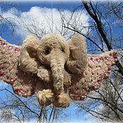 Куклы и игрушки ручной работы. Ярмарка Мастеров - ручная работа Розовый слон по имени Мечта. Handmade.