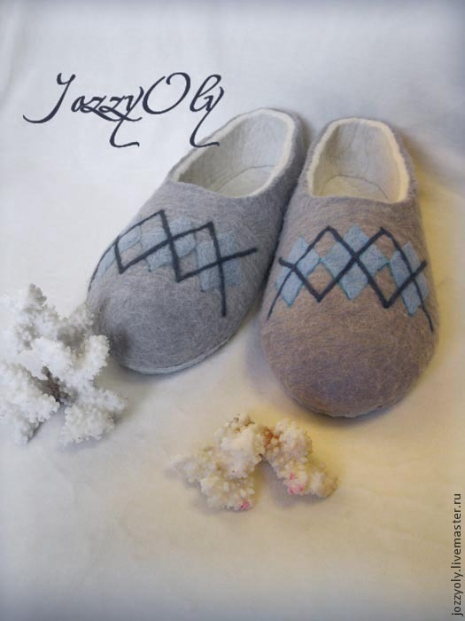 Обувь ручной работы. Ярмарка Мастеров - ручная работа. Купить Тапочки мужские. Handmade. Подарок для мужчин, тапочки из войлока