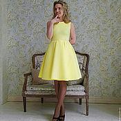 Одежда ручной работы. Ярмарка Мастеров - ручная работа Платье неопрен лимонно-жёлтое. Handmade.