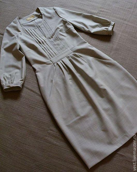 """Платья ручной работы. Ярмарка Мастеров - ручная работа. Купить Платье """" Налегке"""". Handmade. Серый, светлое, шерсть 100%"""
