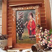 """Для дома и интерьера ручной работы. Ярмарка Мастеров - ручная работа """"Павлин""""-  ключница, предмет винтажного интерьера. Handmade."""