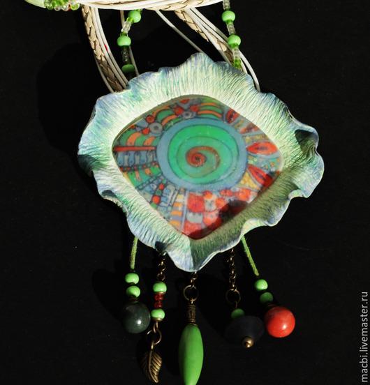 Кулоны, подвески ручной работы. Ярмарка Мастеров - ручная работа. Купить Колье Марита. Handmade. Салатовый, яркий аксессуар