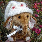 """Куклы и игрушки ручной работы. Ярмарка Мастеров - ручная работа Слоник тедди """"Зимняя карамелька"""". Handmade."""