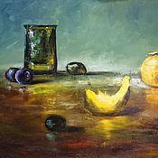 Картины и панно handmade. Livemaster - original item Modern still life (melon, grapes) a free copy of David Cheifetz. Handmade.