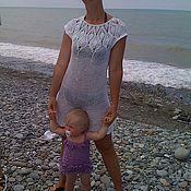 Одежда ручной работы. Ярмарка Мастеров - ручная работа маленькое белое платье. Handmade.