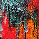 Абстракция ручной работы. Абстрактная живопись Sea.. Анна. Интернет-магазин Ярмарка Мастеров. Красный, абстракционизм, Живопись, пара