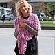 Шарфы и шарфики ручной работы. Ярмарка Мастеров - ручная работа. Купить Шарф из итальянской пряжи крупной ручной вязки, розовый. Handmade.