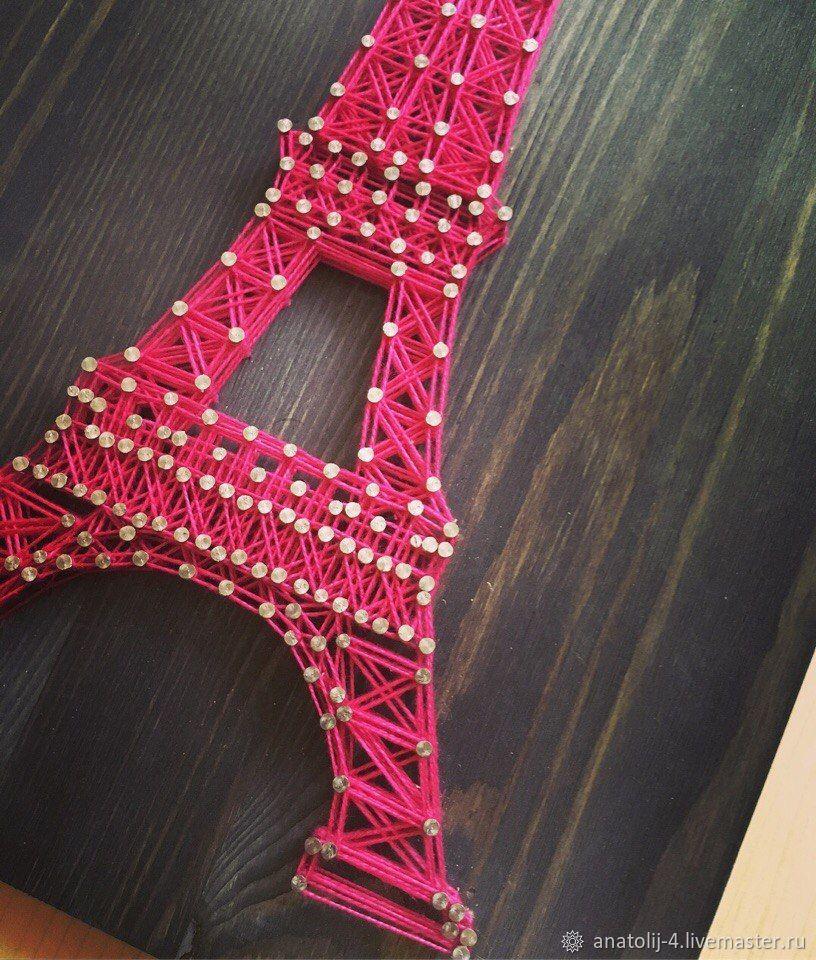 Эйфелева башня в стиле стринг арт