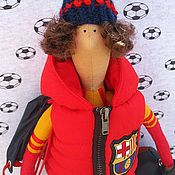 Куклы и игрушки ручной работы. Ярмарка Мастеров - ручная работа Кукла-тильда Футболист Барселона. Handmade.
