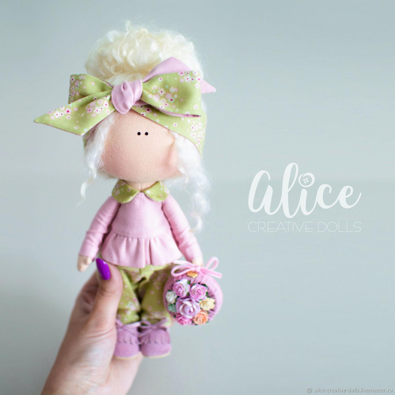 Текстильная интерьерная Куколка Alice C'Dolls, Тильды, Чита, Фото №1