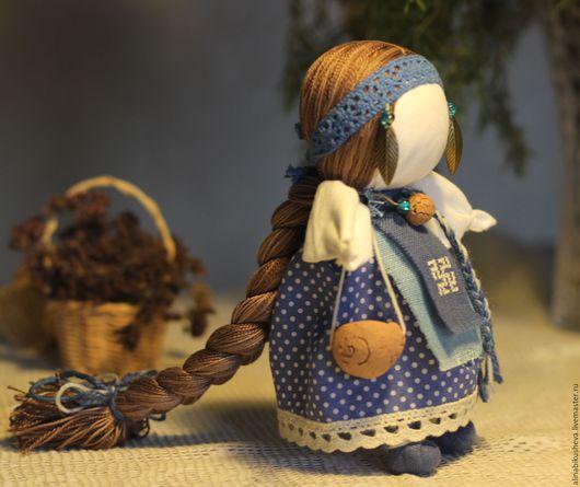 """Народные куклы ручной работы. Ярмарка Мастеров - ручная работа. Купить Кукла-оберег """"Долюшка"""". Handmade. Синий, русская кукла"""
