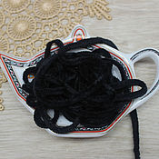 Материалы для творчества handmade. Livemaster - original item Accessories for embroidery: Chenille 5 mm polyester Charcoal 1 meter. Handmade.