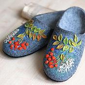 """Обувь ручной работы. Ярмарка Мастеров - ручная работа Тапочки """"Кудрявая рябина"""". Handmade."""