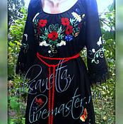 Одежда handmade. Livemaster - original item Tunic dress, embroidered shirt .. Handmade.
