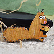 Украшения handmade. Livemaster - original item Crazy squirrel brooch. Handmade.